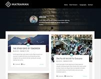 Matraman - Handsome Grid Blog Theme