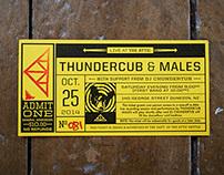 Thundercub: Live at The Attic (Ticket design)