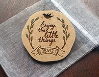 Wedding / Bridal Thank You Button Badge