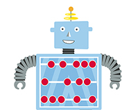 Mathematical Robot Characters