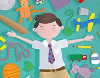 Tidy Teddy Book Illustration