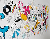 CMYK Mural
