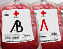 Blood Types -Typography Design-