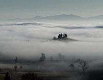 Mist in Monferrato hills