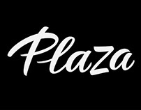 PLAZA. Lettering for a Magazine's Masthead