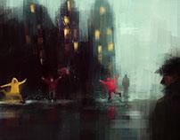 Rain - illustrations set