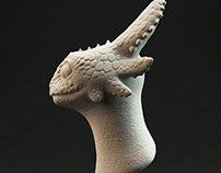 Toothless bust