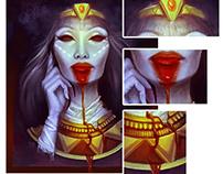 Beautiful dead Cleopatra