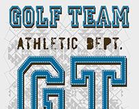 golf team vector art