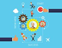 Team Work Illustrations