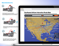 Interactive Airline Route Map User Experience