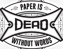 Paper is dead without words