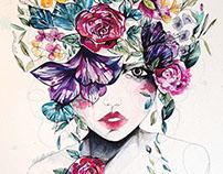 'Flower Fro II' - watercolour