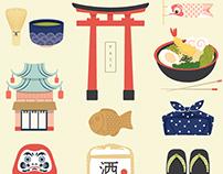 Japan Icons Illustration : PAST