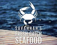 Savannah's Fresh Catch Seafood Branding