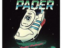 "80s Style Retro-futuristic Posters ""adidas Micropacer"""