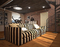 living room loft-style