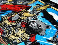 Guardians of the Galaxy Screenprinted Movie Poster
