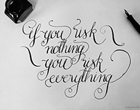 Some calligraphy