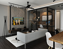 UTILISED SPACE WITH INDUSTRIAL STYLE