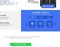 A Web Hosting Website Mockup