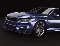 Bmw M4 2014 restyling modeling and rendering project