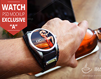"""Watch PSD Mockup Exclusive """"A"""""""