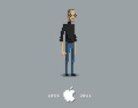 Steve Jobs Pixel Tribute