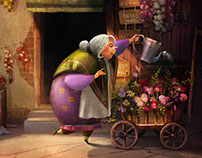 Cute Village Flower Shop