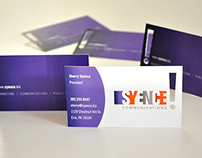 Sherry Syence Logo and Business Card