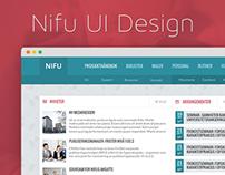 Intranet Website UI Design for Nifu