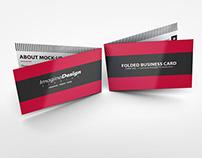 Folded Business Card Mockup V1