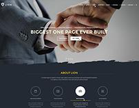 Lion - One Page WordPress Theme
