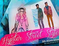 Hipster Street Style Illustrations