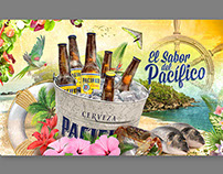 Cerveza Pacífico (manteletas-etiquetas)