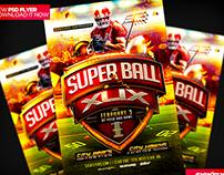 SuperBowl 2015 Flyer Template