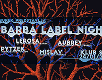 Identity for Barba Label Night