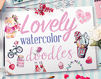 Lovely Watercolor Doodles