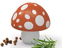 Mushroom / Mortar and pestle