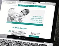 Dentist Website Layout