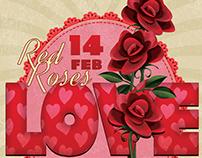 Romantic Valentine Dinner Flyer