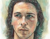 Christian Bale (watercolor)