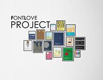 FONT LOVE - Font Illustration Project