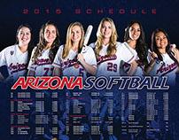 Arizona Wildcats Softball Poster