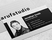 Black-Bold Free PSD Business Card Template