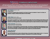 Company Support & Mentors Flyer