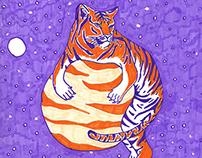 Space Tiger   Calendar Illustration
