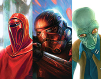Star Wars Trading Card Game Illustrations
