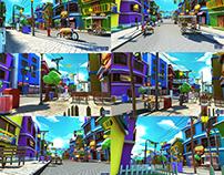 Burger City Stylized Virtual Set Env