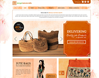 Jute Products Seller Website_Homepage